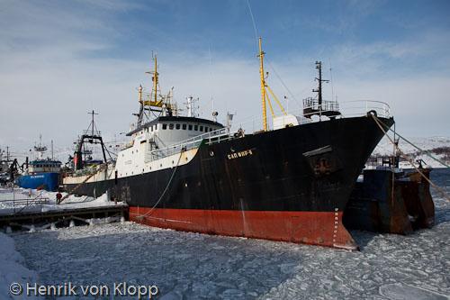 Ryskt fiskefartyg i Kirkenes