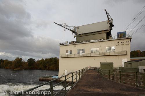 Inne i rörturbinen, Vargöns kraftstation. Klicka på bilden för att se fler.