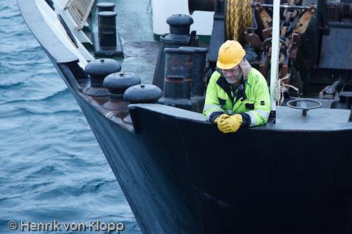 K-märkt matros ombord på MS Lofoten