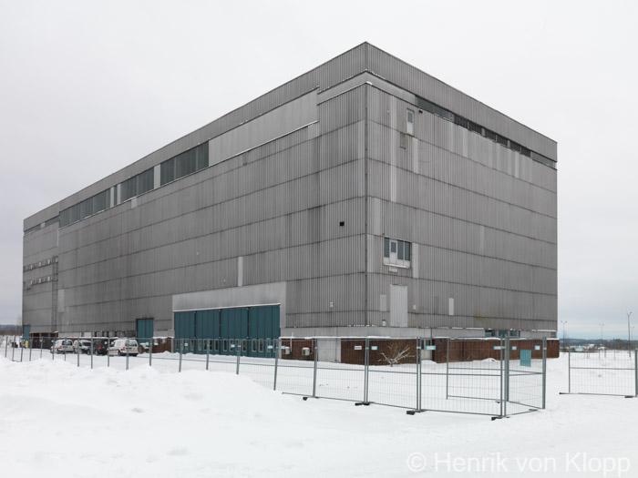 Sovringsverket vid urangruvan i Ranstad uppförd 1962-1965.