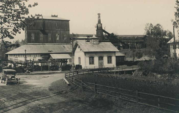 Högfors bruk med kraftstationen på 1920-talet. Foto: Okänd / Järnvägsmuseet